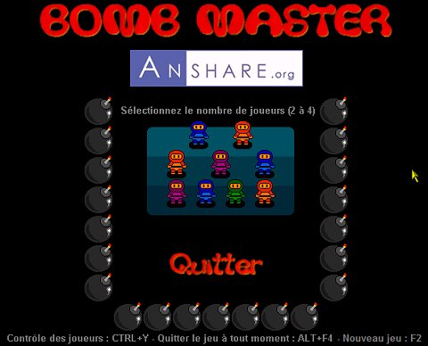 Capture d'écran BOMB MASTER PORTABLE
