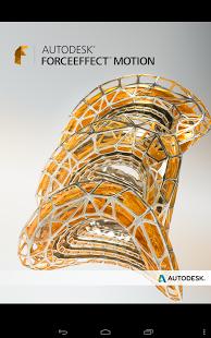 Capture d'écran Autodesk ForceEffect Motion