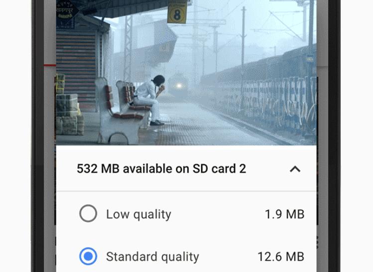 Capture d'écran Youtube Go Android