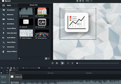 Capture d'écran Camtasia Studio