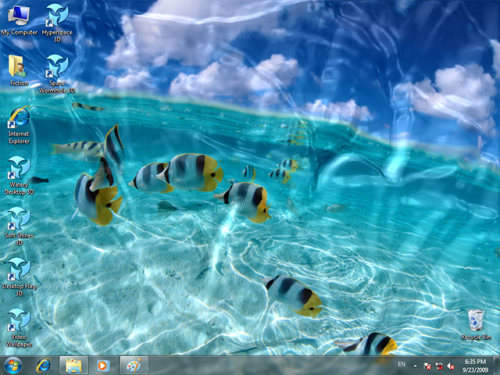 Capture d'écran Animated Wallpaper – Watery Desktop 3D