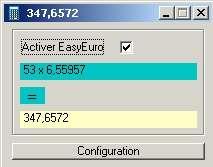 Capture d'écran EasyEuro