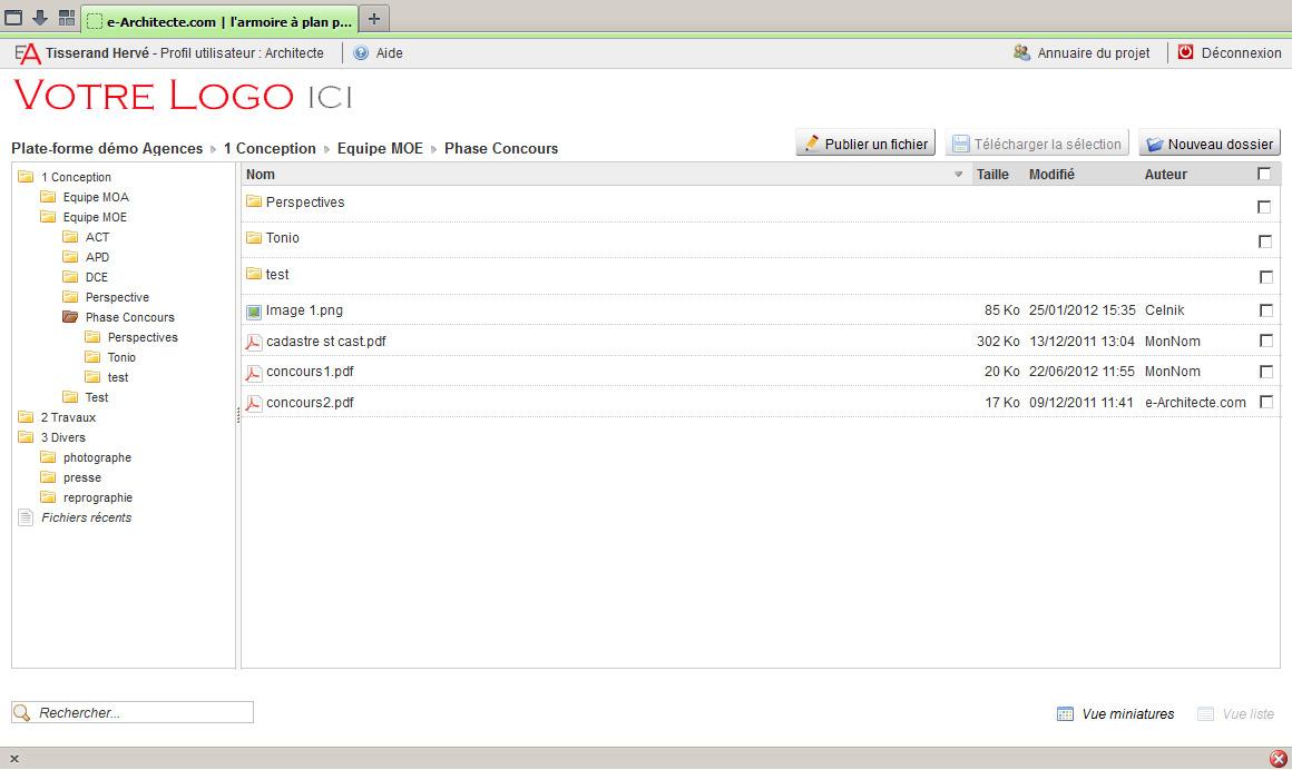 Capture d'écran e-architecte