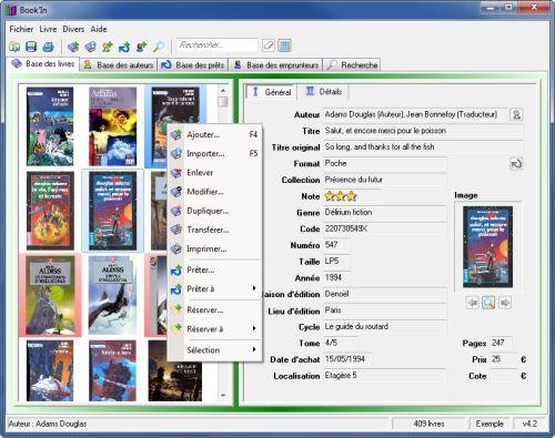 Capture d'écran Book'in