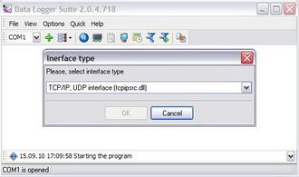 Capture d'écran Data Logger Suite