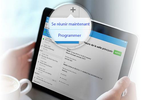 Capture d'écran Cisco WebEx Meetings