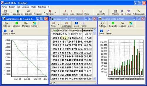 Capture d'écran XBudget