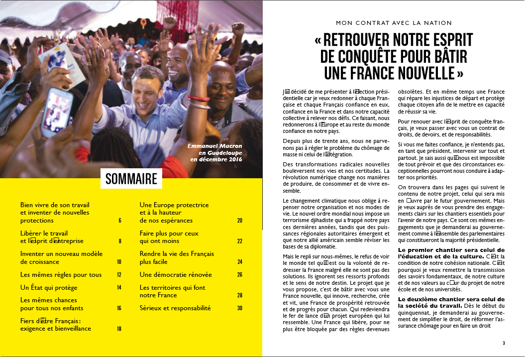 Capture d'écran Programme Emmanuel Macron – Présidentielle 2017