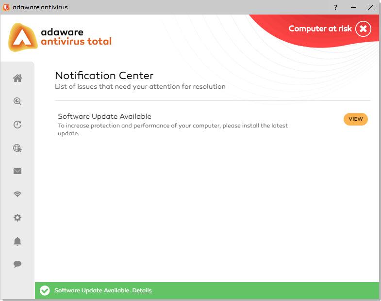 Capture d'écran Adaware Free Antivirus