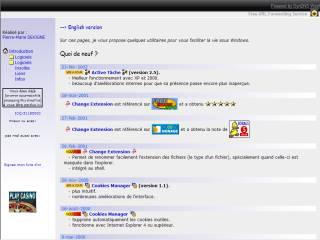 Capture d'écran MS-DOS options