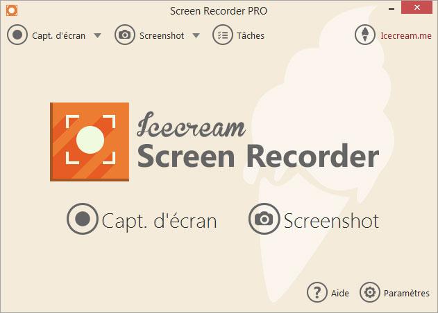 Capture d'écran Icecream Screen Recorder 5.77