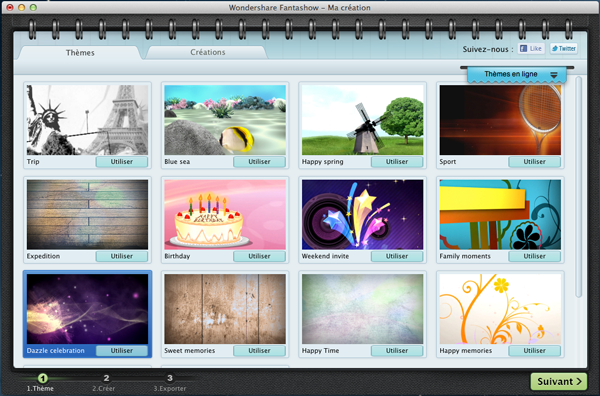 Capture d'écran Wondershare Fantashow pour Mac