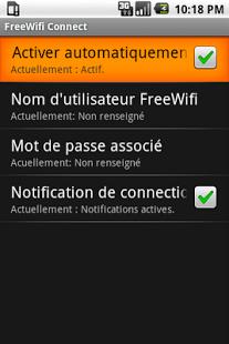 Capture d'écran FreeWifi Connect