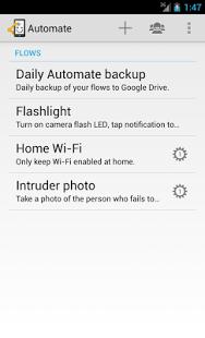 Capture d'écran Automate app permissions