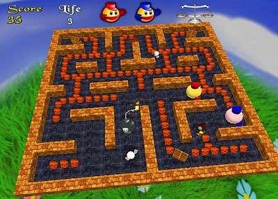 Capture d'écran 3D Pacman