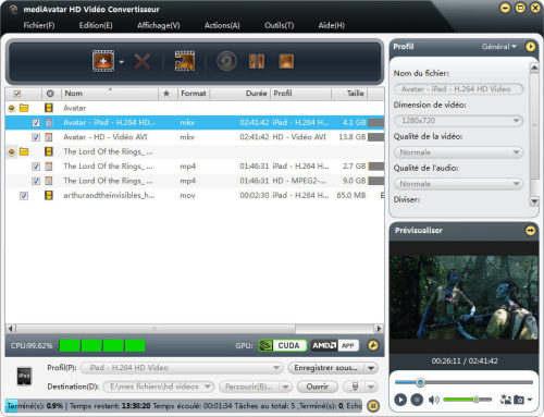 Capture d'écran mediAvatar HD Vidéo Convertisseur