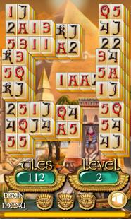 Capture d'écran Egypte Solitaire Mahjong