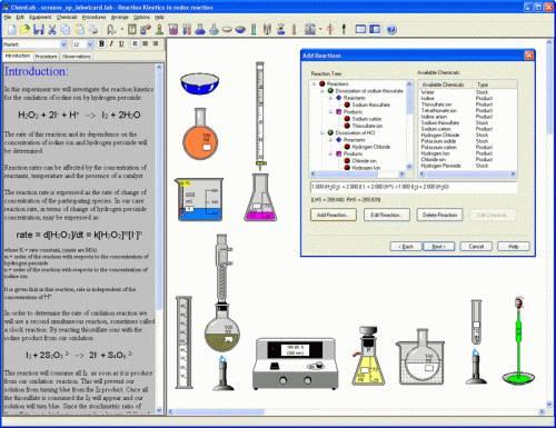 Capture d'écran ChemLab v2.5.1