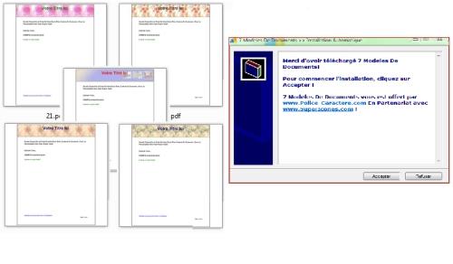 Capture d'écran Pack 7 Modèles De Documents