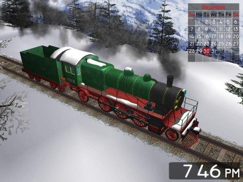Capture d'écran Winter Train 3D Screensaver for Mac