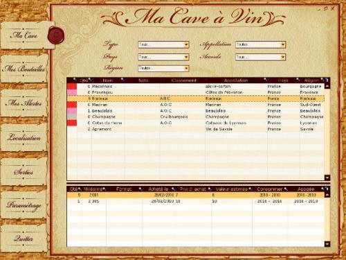 Capture d'écran POINKA Ma Cave à Vin