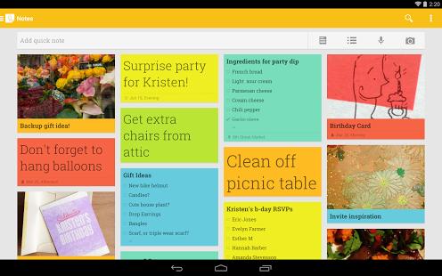 Capture d'écran Google Keep iOS