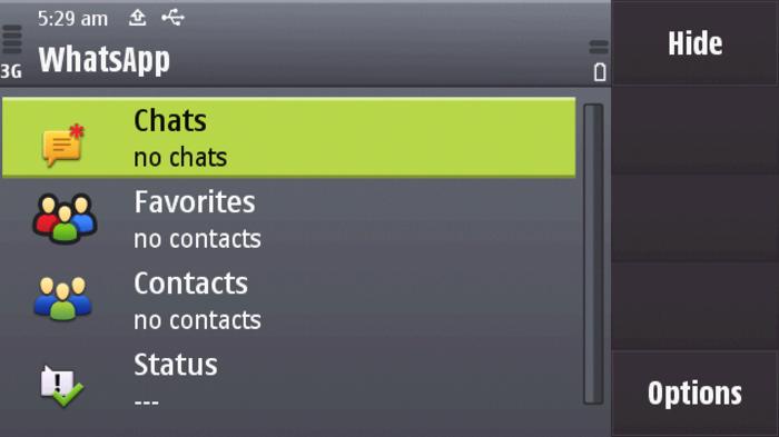 Capture d'écran Whatsapp Messenger Java