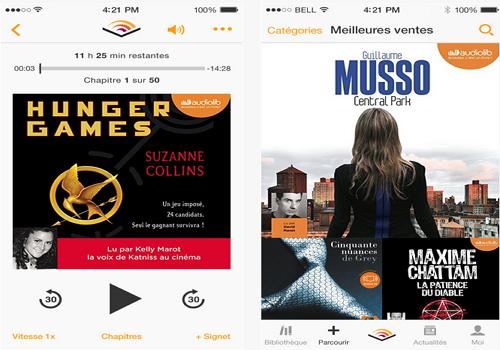 Capture d'écran Audible livres audio iOS