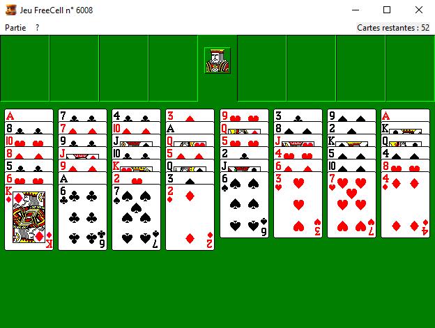 Capture d'écran Freecell (Windows XP)