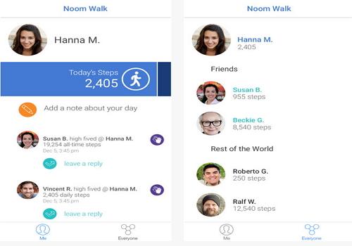 Capture d'écran Noom Walk Pedometer iOS
