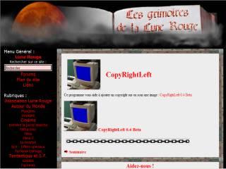 Capture d'écran CopyRightLeft