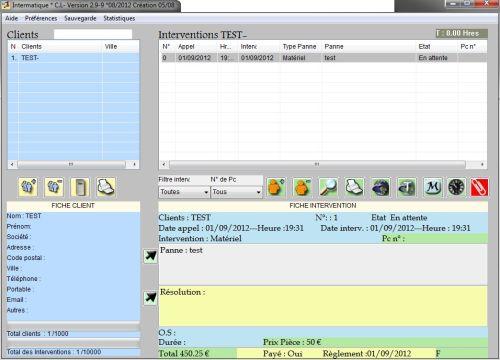 Capture d'écran Intermatique