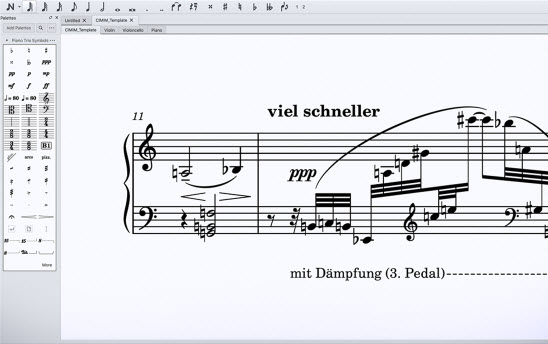 Capture d'écran MuseScore