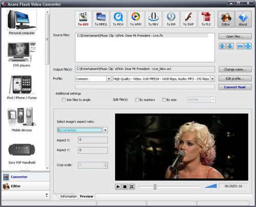 Capture d'écran Flash Video Converter