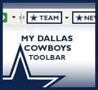 Capture d'écran My Dallas Cowboys Toolbar