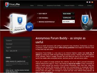Capture d'écran Anonymous Forum Buddy