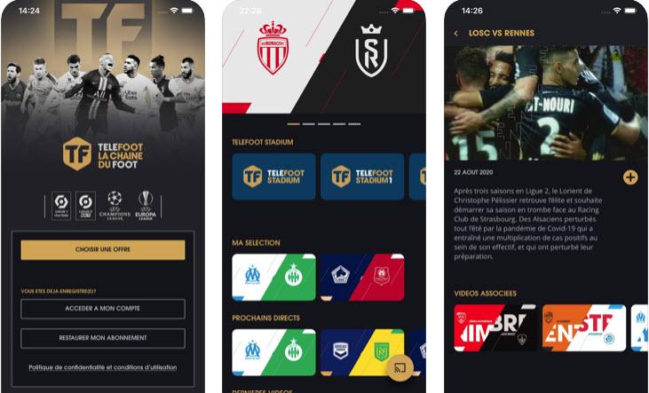 Capture d'écran Téléfoot la chaîne du foot Android
