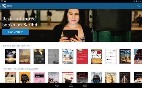 Capture d'écran Scribd – Lire Illimités Livres