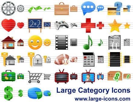Capture d'écran Large Category Icons