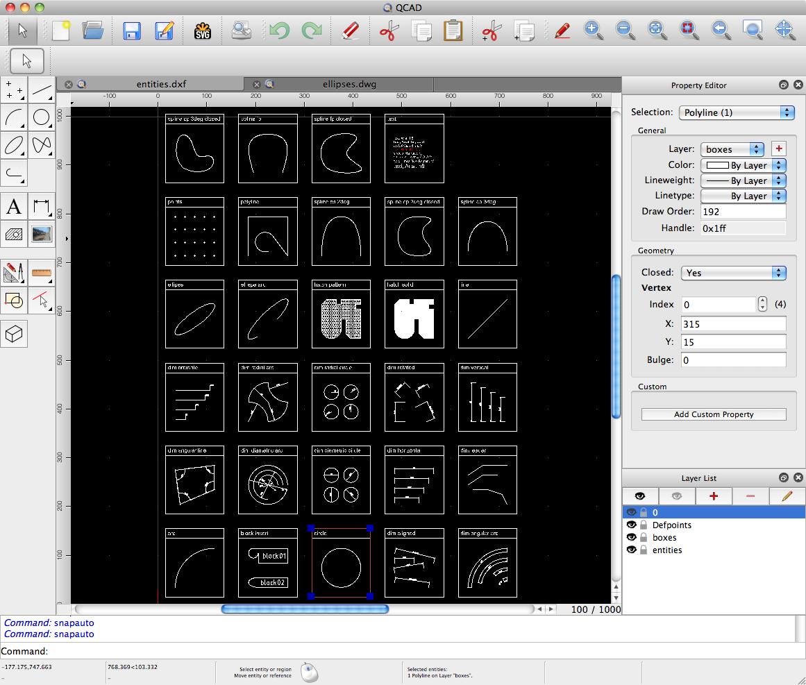 Capture d'écran QCAD Profesional Mac