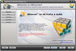 Capture d'écran DBConvert for MS FoxPro & MySQL