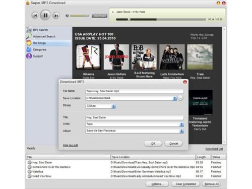 Capture d'écran Super MP3 Download