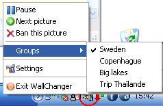 Capture d'écran WallChanger