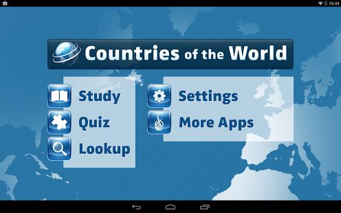 Capture d'écran Pays du Monde