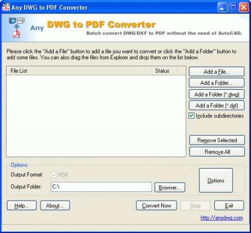 Capture d'écran DWG to PDF Converter