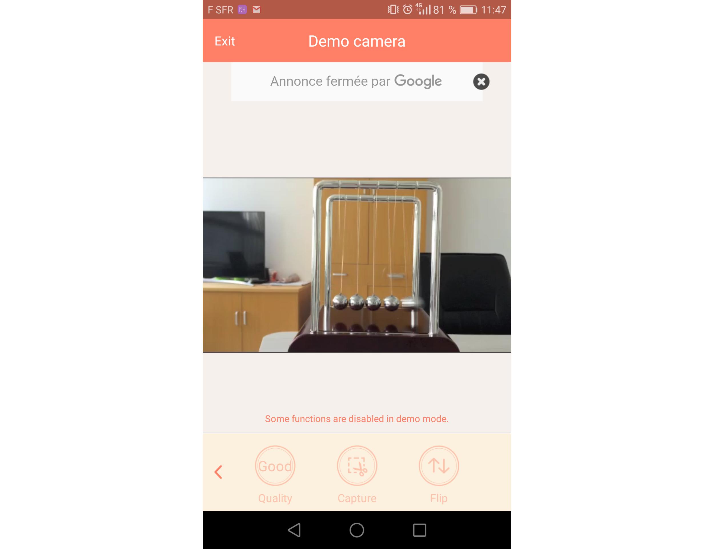 Capture d'écran Athome Camera iOS