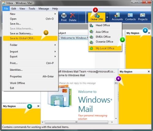 Capture d'écran Add-in Express 2008 for Outlook Express
