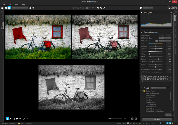 Capture d'écran Corel AfterShot Pro Mac