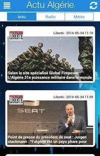 Capture d'écran ALGERIE