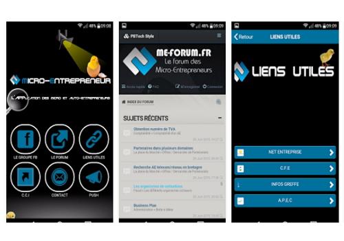 Capture d'écran Micro-entrepreneur Android